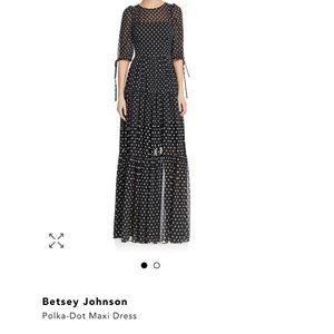 Betsey Johnson Polka-dot maxi dress